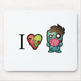 I <3 Brains- Zombies Are Everywhere! Mouse Pad