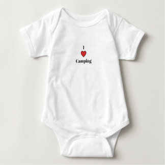 I <3 Camping Baby Bodysuit