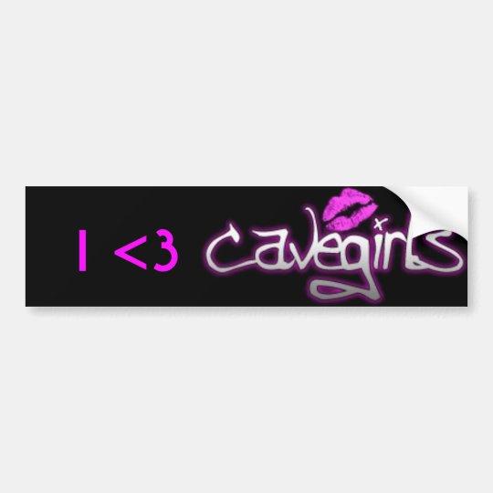 I <3 Cavegirls Bumper Sticker