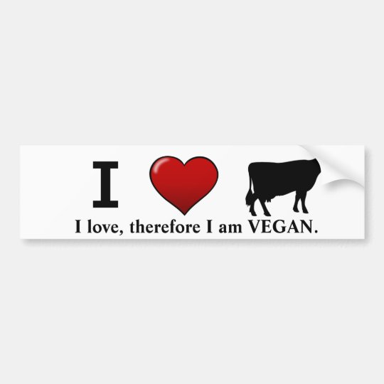I <3 Cows (Animal Rights design by Marlaina Bumper Sticker