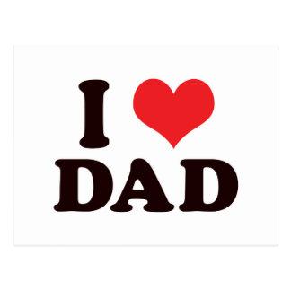 I <3 Dad Postcard