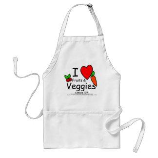 I <3 Fruits & Veggies Standard Apron