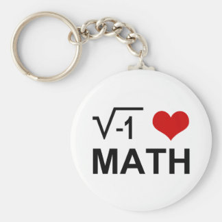 I <3 Math Key Ring