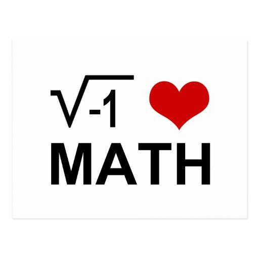 I <3 Math Post Card