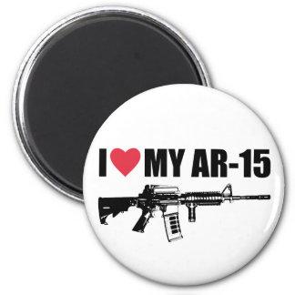 I <3 My AR-15 6 Cm Round Magnet