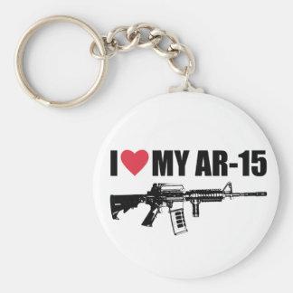 I <3 My AR-15 Basic Round Button Key Ring