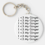 I <3 My Ginger keychain