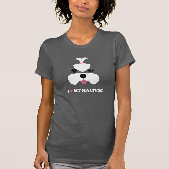 I <3 my maltese - girl face T-Shirt