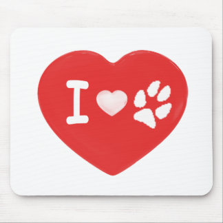 I <3 Paws Mousepads