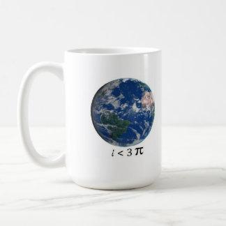 i <3 pi basic white mug