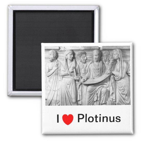 I <3 Plotinus Square Magnet