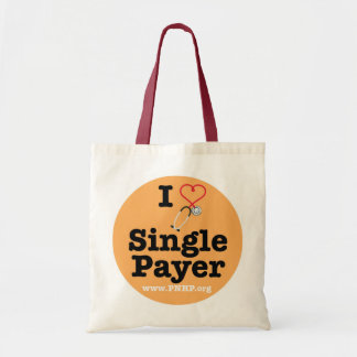 I <3 Single Payer Tote Tote Bags