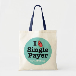 I <3 Single Payer Tote Canvas Bag