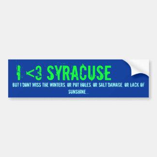 I <3 Syracuse, but... Bumper Sticker