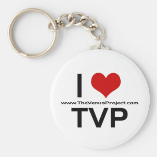 I <3 TVP BASIC ROUND BUTTON KEY RING