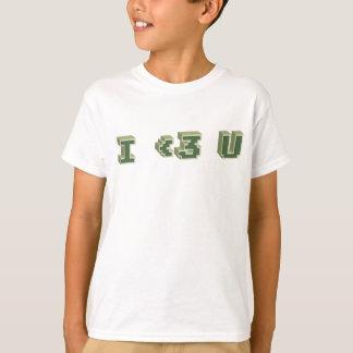 I <3 U means I love you. T-shirt