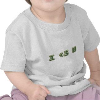 I 3 U means I love you T-shirts