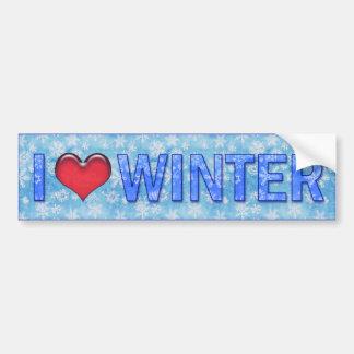 I <3 Winter Bumper Sticker