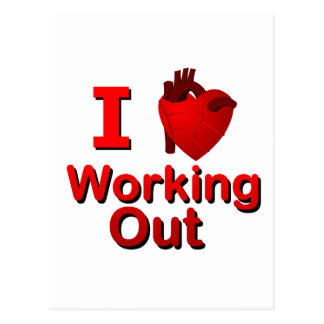 I <3 Working Out Postcard