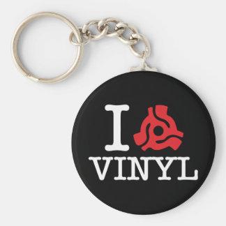 I 45 Adapter Vinyl Basic Round Button Key Ring
