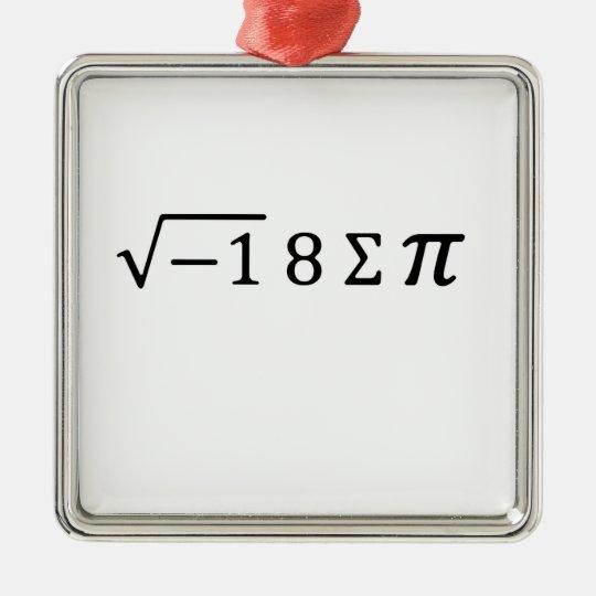I 8 Sum Pi Christmas Ornament