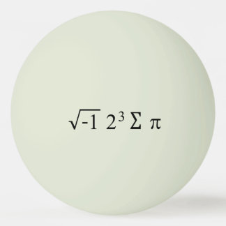 i 8 sum pi Funny Math Equation Pi Day Ping Pong Ball