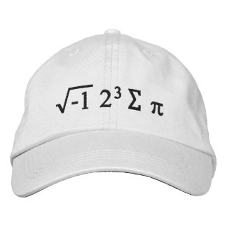 i 8 sum pi - I Ate Some Pi Funny Math Hat Embroidered Baseball Cap