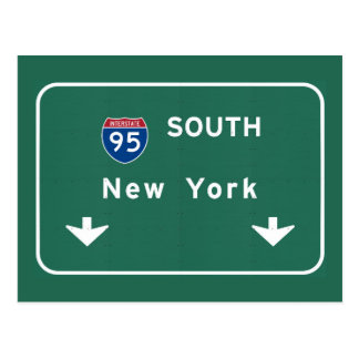 I-95 Interstate New York Empire State NY Highway Postcard
