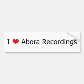 I ♥ Abora Recordings Bumper Sticker White 1
