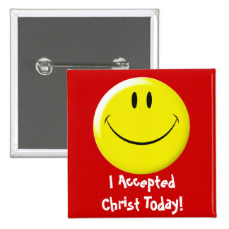I Accepted Christ Today! 15 Cm Square Badge