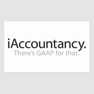 i Accountancy - There's GAAP For That Rectangular Sticker