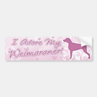 I Adore my Weimaraner Bumper Sticker
