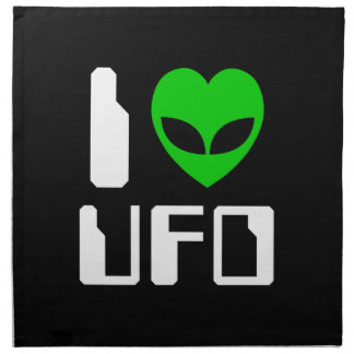 I Alien Heart UFO Napkin