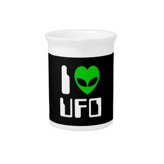 I Alien Heart UFO Pitcher