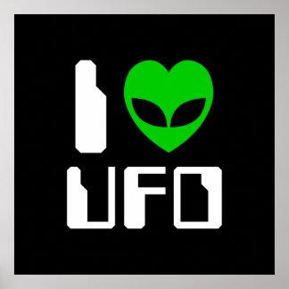 I Alien Heart UFO Posters