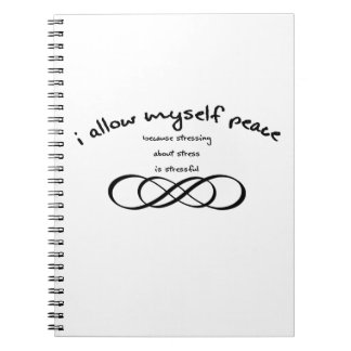 I allow myself peace notebook