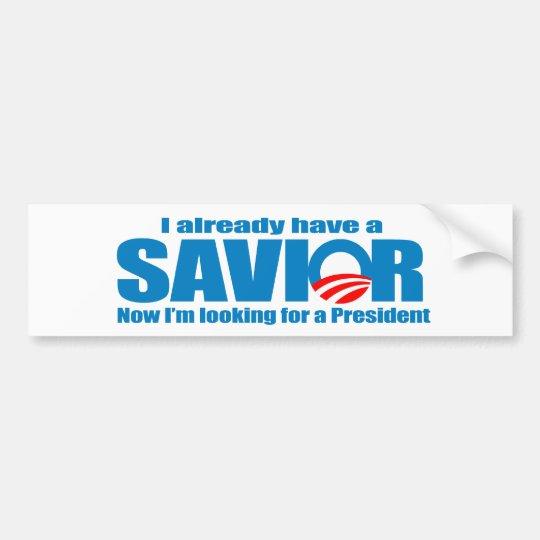 I already have a saviour bumper sticker