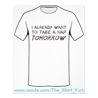 I Already Want To Take A Nap Tomorrow 11.5 Cm X 14 Cm Flyer
