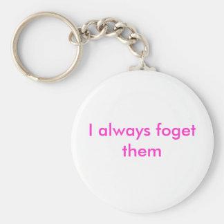 I always foget them basic round button key ring