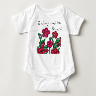 I always smell like flowers baby shirts