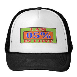 I am 05 % in love trucker hat