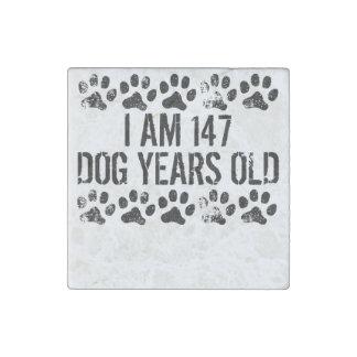 I Am 147 Dog Years Old Stone Magnet