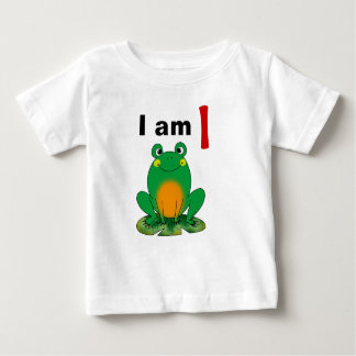 I am 1 year old today (cartoon green frog) t shirts