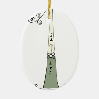 I Am 1 yrs Old from tony fernandes design Ceramic Oval Decoration
