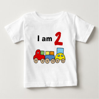 I am 2 (wooden toy train) baby T-Shirt