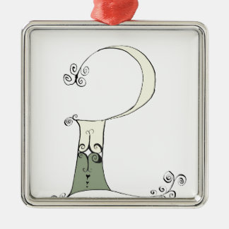 I Am 2 yrs Old from tony fernandes design Silver-Colored Square Decoration
