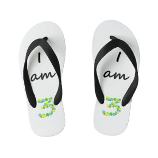 I am 3 - Kids Flip Flops