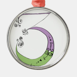 I Am 3 yrs Old from tony fernandes design Silver-Colored Round Decoration