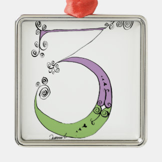 I Am 3 yrs Old from tony fernandes design Silver-Colored Square Decoration