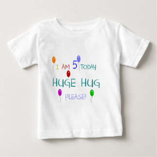 I Am 5 Today Baby T-Shirt